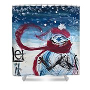 Let It Snow Version One Shower Curtain