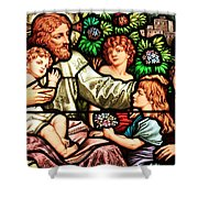 Let The Children Come To Me Shower Curtain