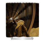 Let The Spinning Wheel Spin Shower Curtain