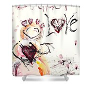 Let There Be Love Shower Curtain