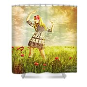 Let Us Dance In The Sun Shower Curtain
