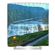 Letchworth Middle Falls Lights Shower Curtain