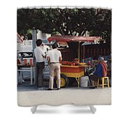 Lets Do Lunch Mexico Series By Tom Ray Shower Curtain
