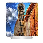 Bowling Pastime Shower Curtain