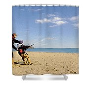 Let's Go Fly A Kite Shower Curtain