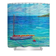 Let's Go Sailing Shower Curtain