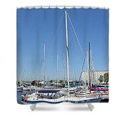 Sailboat Series 02 Shower Curtain