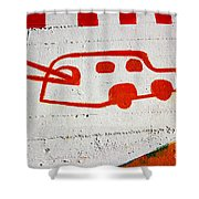 Let's Go Surfing Shower Curtain by Chiara Corsaro