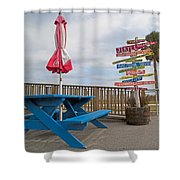 Let's Have A Picnic Jekyll Island Shower Curtain