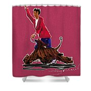 Lets Tango In Red Shower Curtain