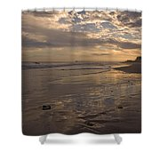 Let's Walk This Evening Shower Curtain