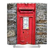 Victorian Red Letter Box Shower Curtain