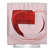 Letter From My Heart Fine Fractal Art Shower Curtain