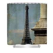 Letter From Paris Shower Curtain