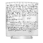 Letter To Voltaire From King Frederick Shower Curtain