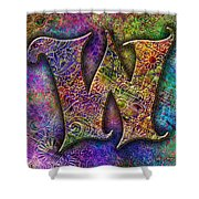 Letter W Shower Curtain