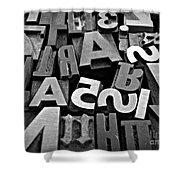 Letters And Numbers 1 Shower Curtain