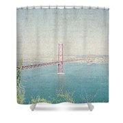 Letters From Lisbon Shower Curtain