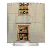 Letters Reflected Shower Curtain