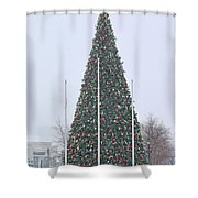 Levis Commons Christmas Tree Shower Curtain by Jack Schultz