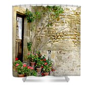 Levroux France Entrance Shower Curtain