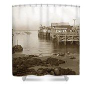 Lewis Fish Market Selected Fresh Fish And Swains Fish Market Monterey 1929 Shower Curtain