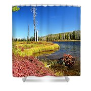 Lewis River Fall Shower Curtain
