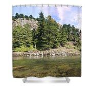 Lewis River Landscape Shower Curtain