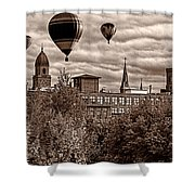 Lewiston Maine Hot Air Balloons Shower Curtain