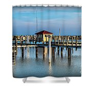 Lexington Harbor With No Boats Shower Curtain