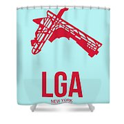 Lga New York Airport 2 Shower Curtain by Naxart Studio