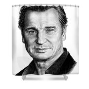 Liam Neeson Shower Curtain