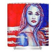 Liberty American Girl Shower Curtain by Anna Ruzsan