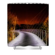 Liberty Bridge At Night Shower Curtain
