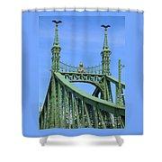 Liberty Bridge Budapest Shower Curtain