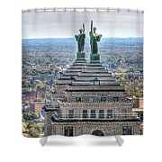 Liberty Building Autumn 2013 Shower Curtain