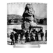 Liberty Cap Yellowstone National Park Shower Curtain
