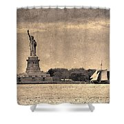 Liberty Enlightening The World Shower Curtain