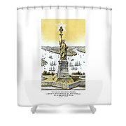 Liberty Enlightening The World  Shower Curtain by War Is Hell Store