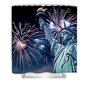 Liberty Fireworks Shower Curtain