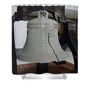 Liberty In Lego Shower Curtain by Richard Reeve