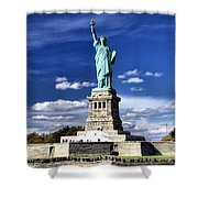 Liberty Island Shower Curtain