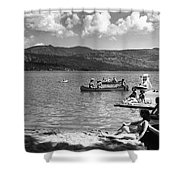 Liberty Lake Summer Leisure In 1940 Shower Curtain