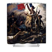 Liberty Leading The People During The French Revolution Shower Curtain
