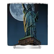 Liberty Moon Shower Curtain by Steve Purnell