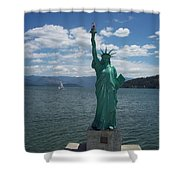 Liberty On Lake Pend Oreille  Shower Curtain