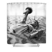 Liberty Park II Panoramic Shower Curtain