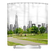 Liberty Park Shower Curtain