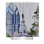 Liberty Place And City Hall Shower Curtain