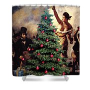 Liberty Places Star On The Tree Shower Curtain
